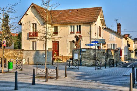 les: Ile de France, the Abbe Duval street in Les Mureaux Stock Photo