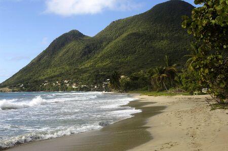 martinique: France, landscape of Le Diamant in Martinique Stock Photo