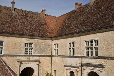 touristy: France, the picturesque castle of Le Clos de Vougeot in Bourgogne