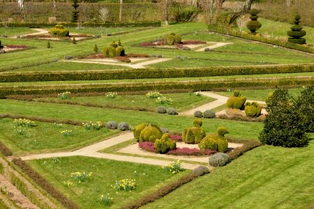 formal garden: France, the picturesque formal garden of  Cormatin in Saone et Loire Stock Photo