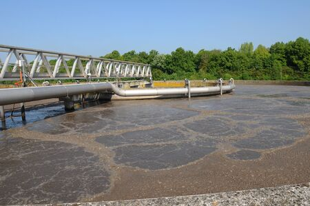 wastewater: France, domestic wastewater treatment in Les Mureaux