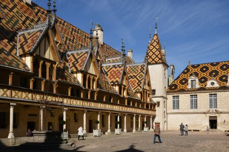 France, the old and hospices of Beaune