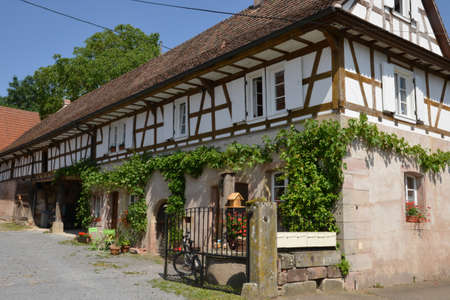 alsace: France, the picturesque village of Hunspach in alsace