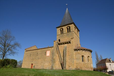 loire: France, the picturesque church of Baugy in Saone et Loire