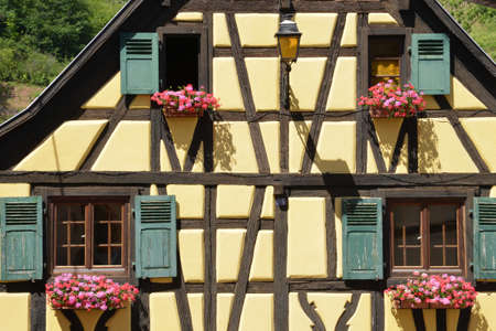 alsace: France, the picturesque village of Niedermorschwirh in alsace