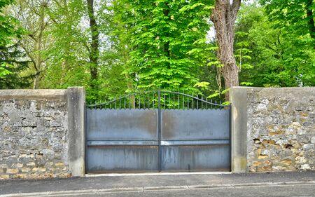 touristy: Ile de France, an old gate in Les Mureaux Stock Photo