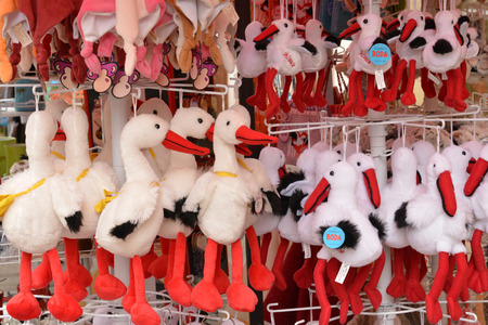 cuddly toy: France, cuddly toys in Obernai in alsace Stock Photo