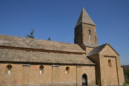 loire: France, the picturesque church of Brancion in saone et loire
