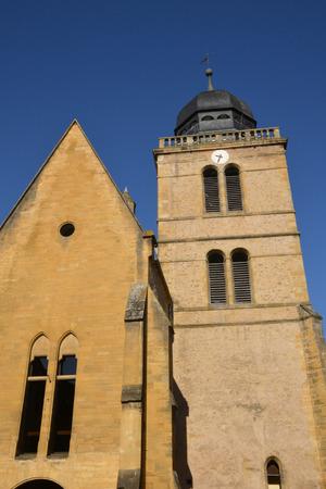 saint nicolas: Bourgogne, the picturesque Saint Nicolas church in Paray le Monial