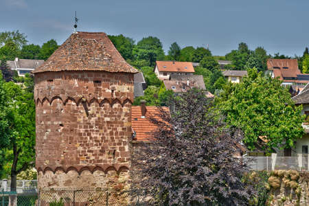 alsace: France, the picturesque rampart of Wissembourg in Alsace