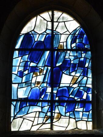 sur: France, the picturesque church of  Varengeville sur Mer in Normandie Editorial