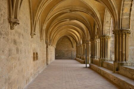 val: Ile de France, the picturesque abbey of Royaumont in Val d Oise Stock Photo