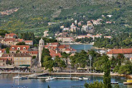 balkan: Croatia, the picturesque village of Cavtat in Balkan Stock Photo