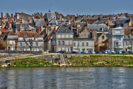 France, the picturesque city of La Charite sur Loire in Bourgogne