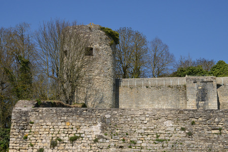 rampart: France, the picturesque rampart of La Charite sur Loire in Bourgogne