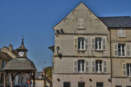 ile de france: Ile de France, the picturesque city of  Magny en Vexin Editorial