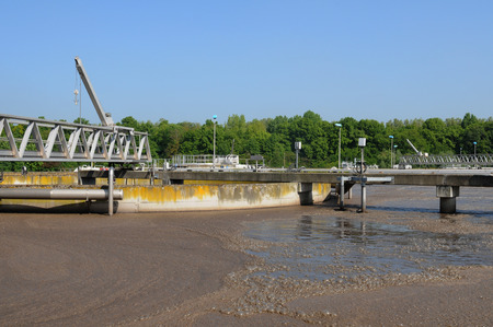 France, domestic wastewater treatment in Les Mureaux