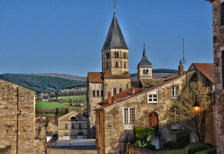 France, the picturesque abbey of Cluny in Saone et Loire 版權商用圖片