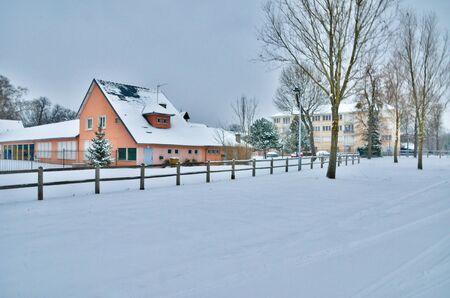 les: Ile de France, the city of Les Mureaux in winter