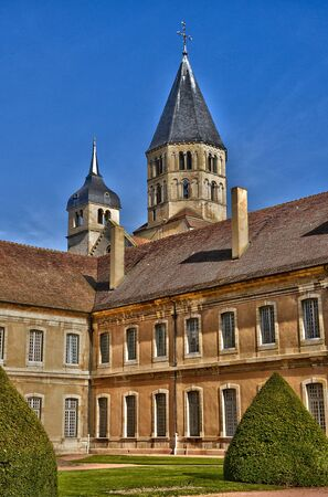 loire: France, the picturesque abbey of Cluny in Saone et Loire Editorial