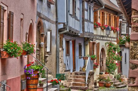 alsace: France, the picturesque village of Eguisheim in Alsace