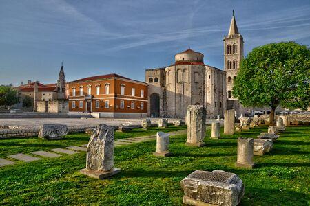 balkan: Croatia, the picturesque forum of Zadar in Balkan