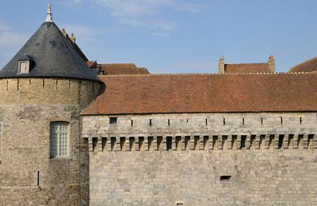 ramparts: France, the picturesque castle of Dieppe in Normandie Editorial