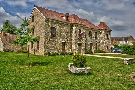 ile de france: Ile de France, the picturesque city hall of Hargeville