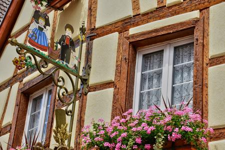 wine grower: France, the picturesque village of Eguisheim in Alsace