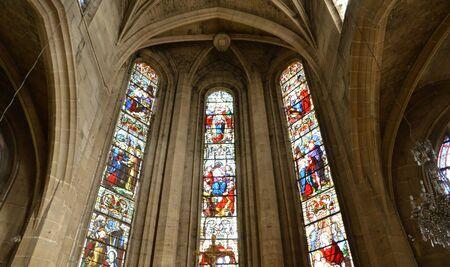 ile de france: Ile de France, the picturesque church of  Magny en Vexin
