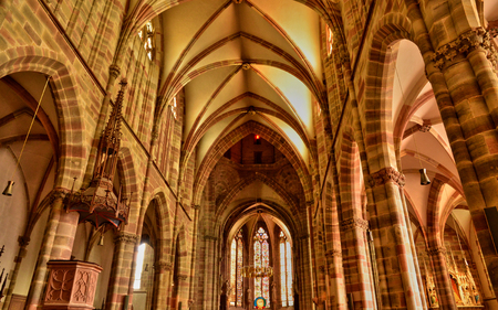 paul: France, Pierre Paul church of Wissembourg in Alsace Editorial