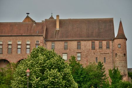 alsace: France, the picturesque old castle of Saverne in alsace