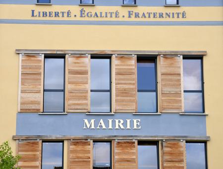 vaux: Ile de France, the city hall of Vaux sur Seine