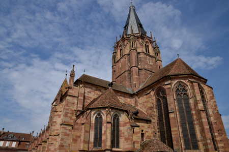 pierre: France, Pierre Paul church of Wissembourg in Alsace Stock Photo