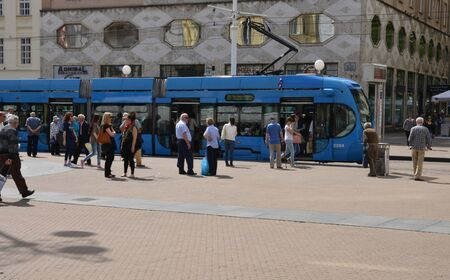 tramway: Croatia, tramway in the picturesque city of Zagreb in Balkan