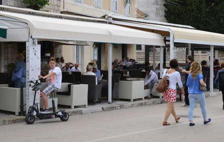 balkan: Croatia, restaurant in the picturesque village of Cavtat in Balkan