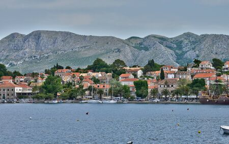 the balkan: Croatia, the picturesque village of Cavtat in Balkan Stock Photo
