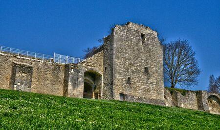 rampart: France, the picturesque rampart of La Charite sur Loire in Bourgogne