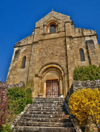 e t: France, the picturesque church of Chateauneuf in Saone et Loire Archivio Fotografico