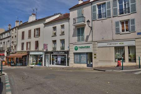 pontoise: Ile de France, the picturesque city of Pontoise Editorial