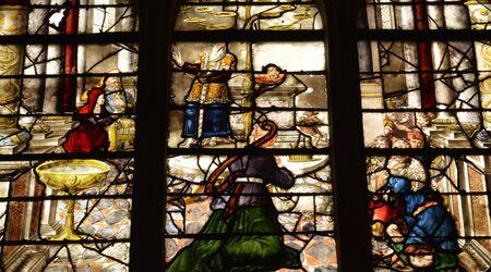 ile de france: Ile de France, the picturesque church of  Montfort l amaury