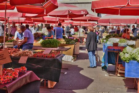 custumer: Croatia, the picturesque market of Zagreb in Balkan