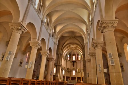 bourgogne: France, the picturesque church of Matour in Saone et Loire