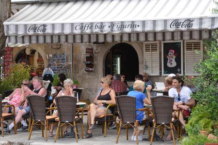 the balkan: Croatia, restaurant in the picturesque village of Cavtat in Balkan