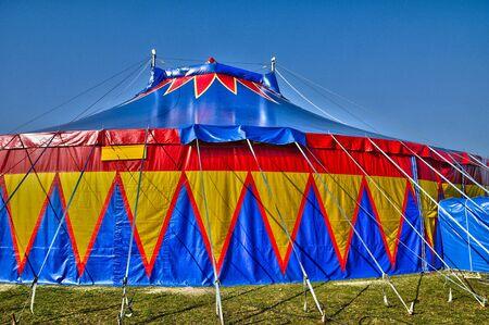 ile de france: ile de France, a colorful circus tent Stock Photo