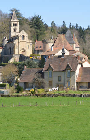 e t: France, the picturesque village of Chateauneuf in Saone et Loire