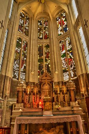 ile de france: Ile de France, the picturesque church of L isle Adam
