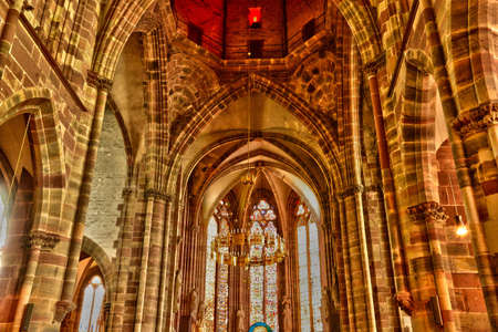 pierre: France, Pierre Paul church of Wissembourg in Alsace Editorial