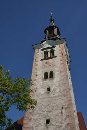 bled: Slovenia, the picturesque chapel of Bled island