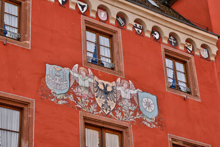 alsace: France, the picturesque chancellery of Haguenau in alsace